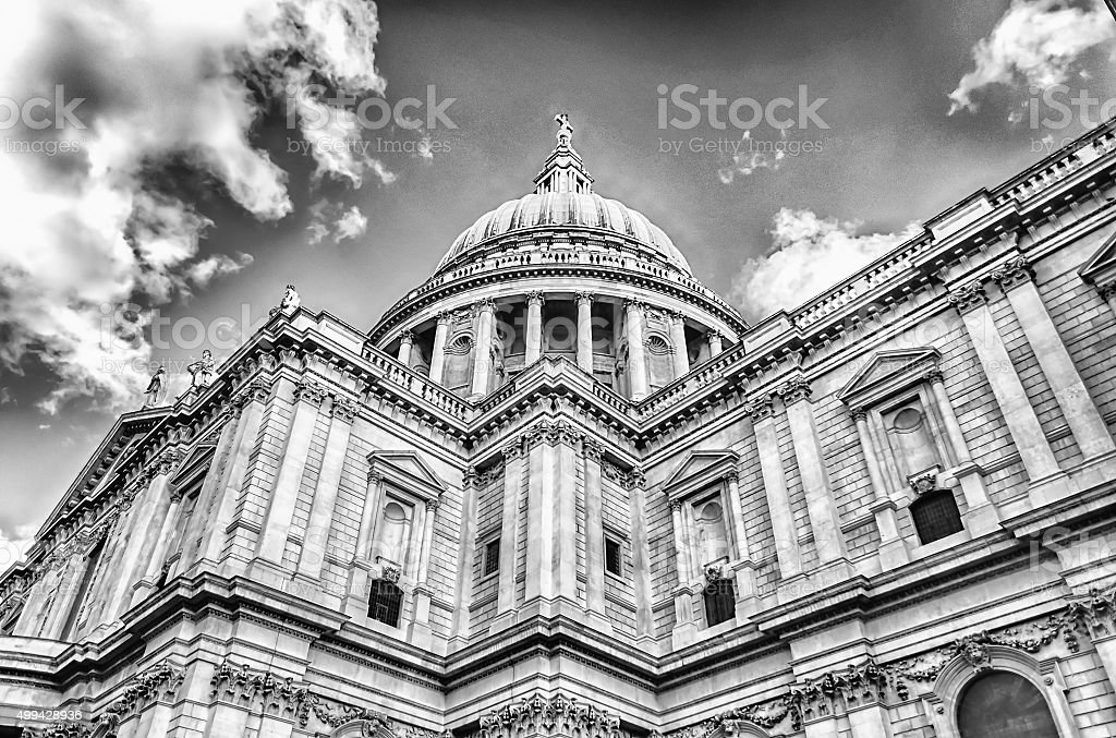 St Paul Cathedral, London stock photo