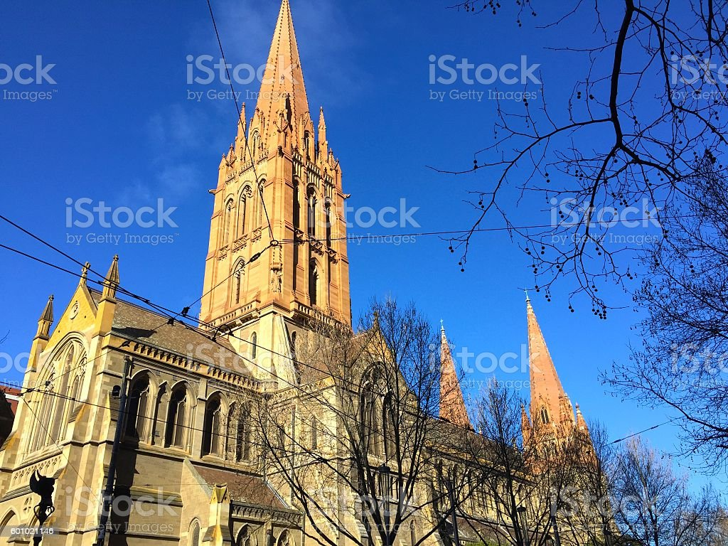 St Paul Cathedral, Melbourne stock photo