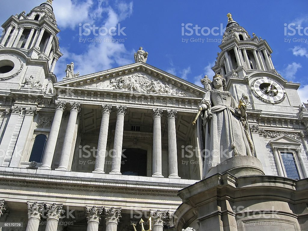 St. Paul Cathedral royalty-free stock photo