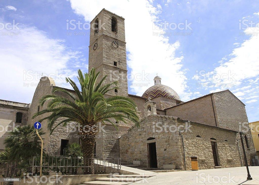 St. Paul Church, Olbia stock photo