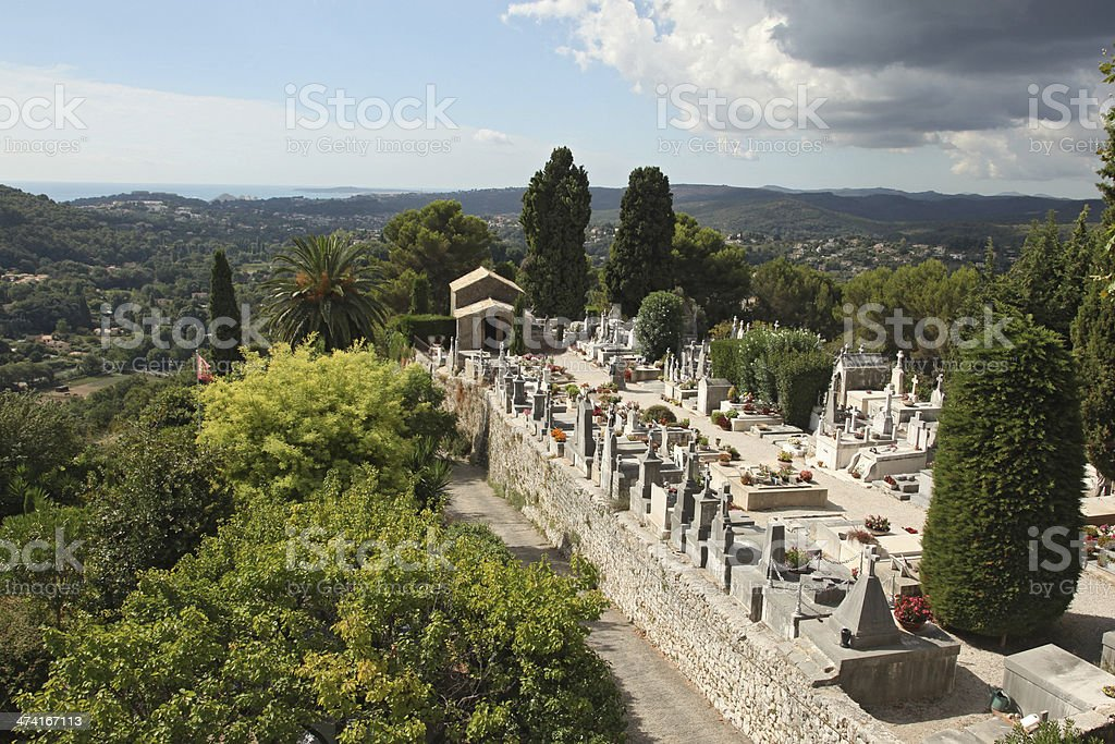 St. Paul de Vence cemetery, France stock photo
