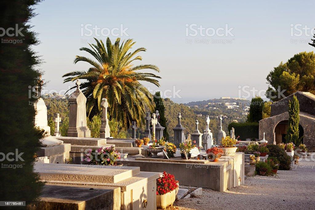 St Paul de Vence Cemetery stock photo