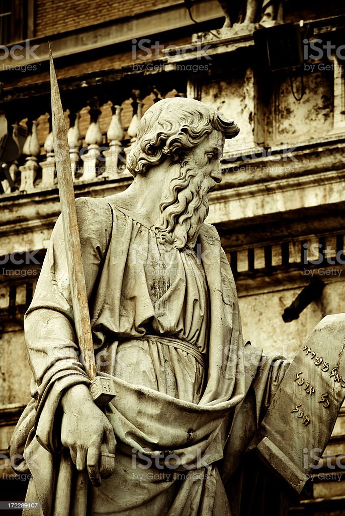 St. Paul in the vatican stock photo