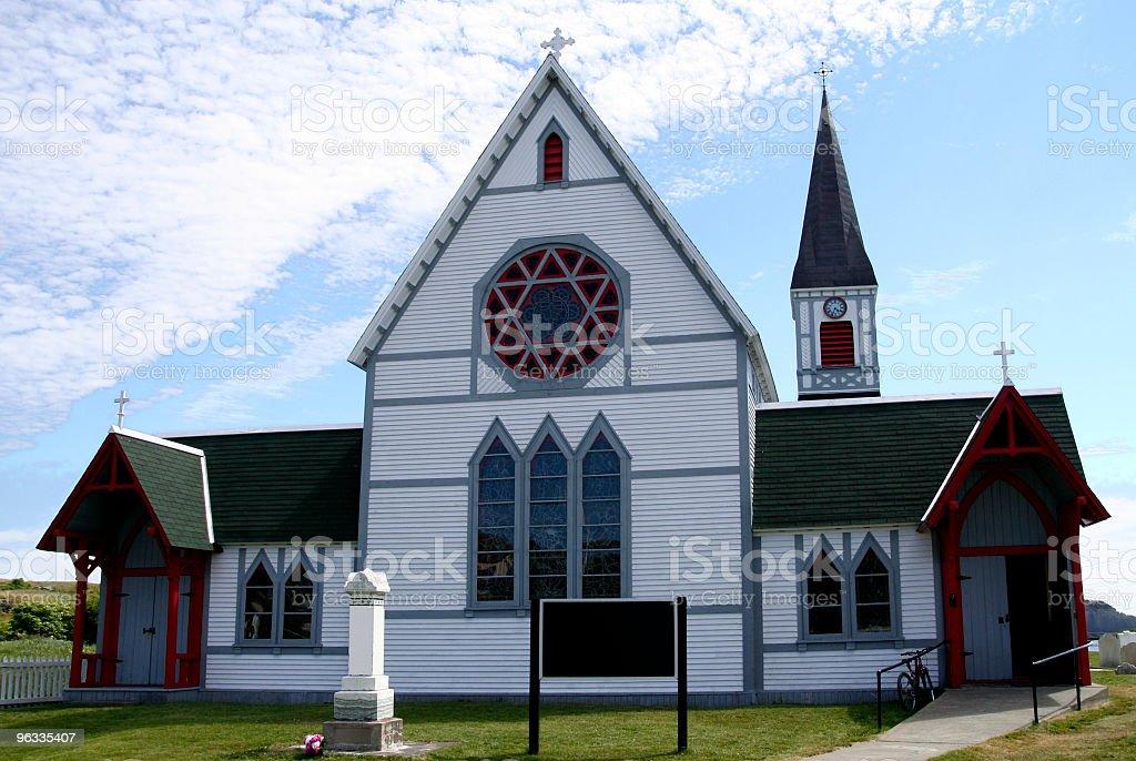 St Paul's Anglican Church, Trinity, Newfoundland stock photo