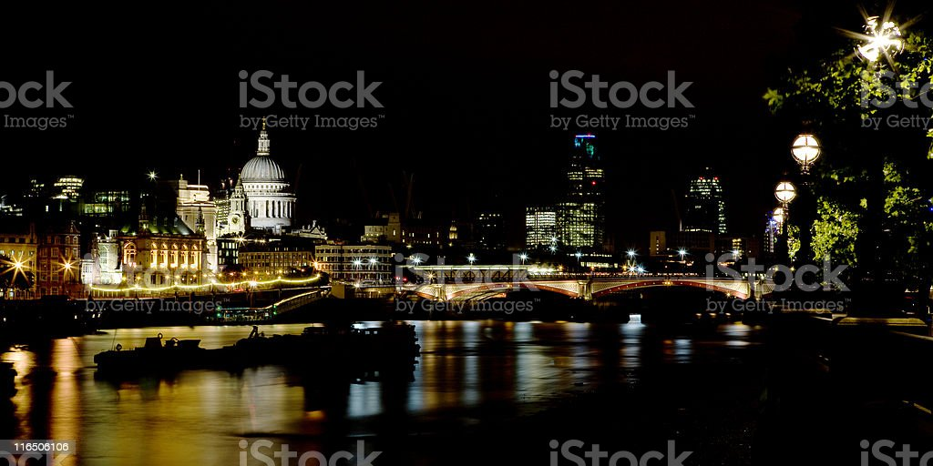 St Paul's at Night royalty-free stock photo