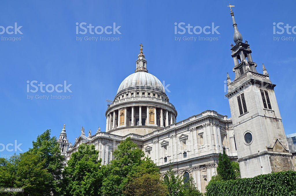 St Paul's & Augustine Tower stock photo