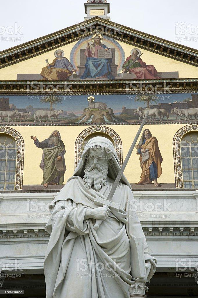 St Paul's basilica stock photo