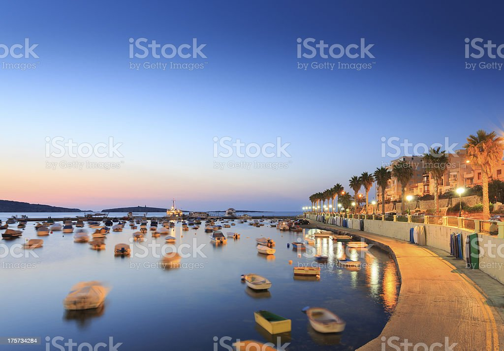 St Paul's Bay, Malta stock photo