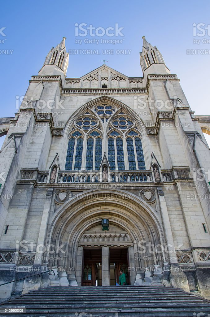 St Paul's Cathedral at the center of Dunedin,New Zealand. stock photo
