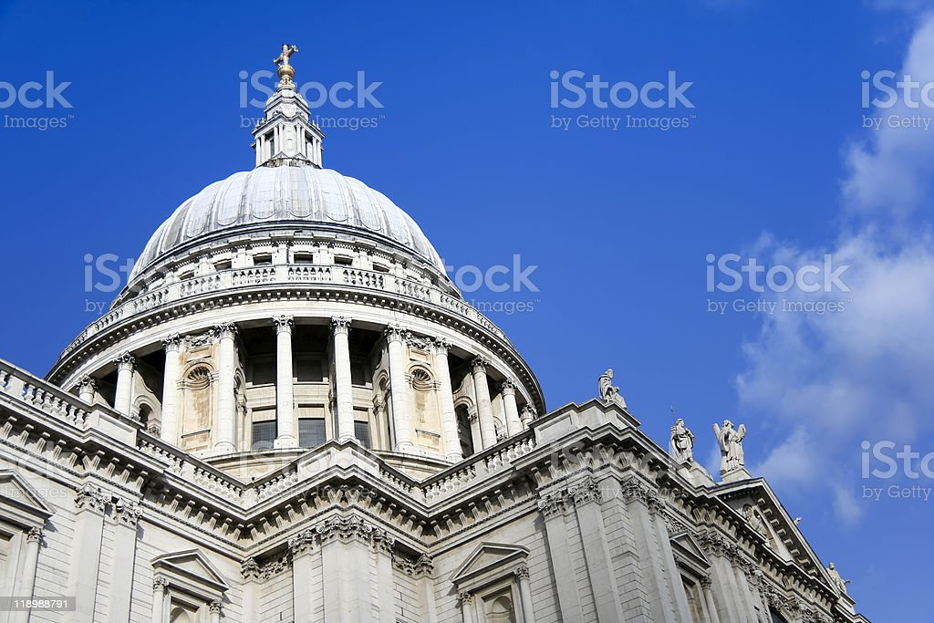 st pauls cathedral city of london royalty-free stock photo