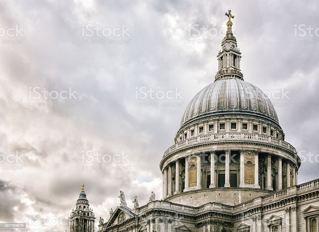 St Paul's cathedral dome London UK royalty-free stock photo