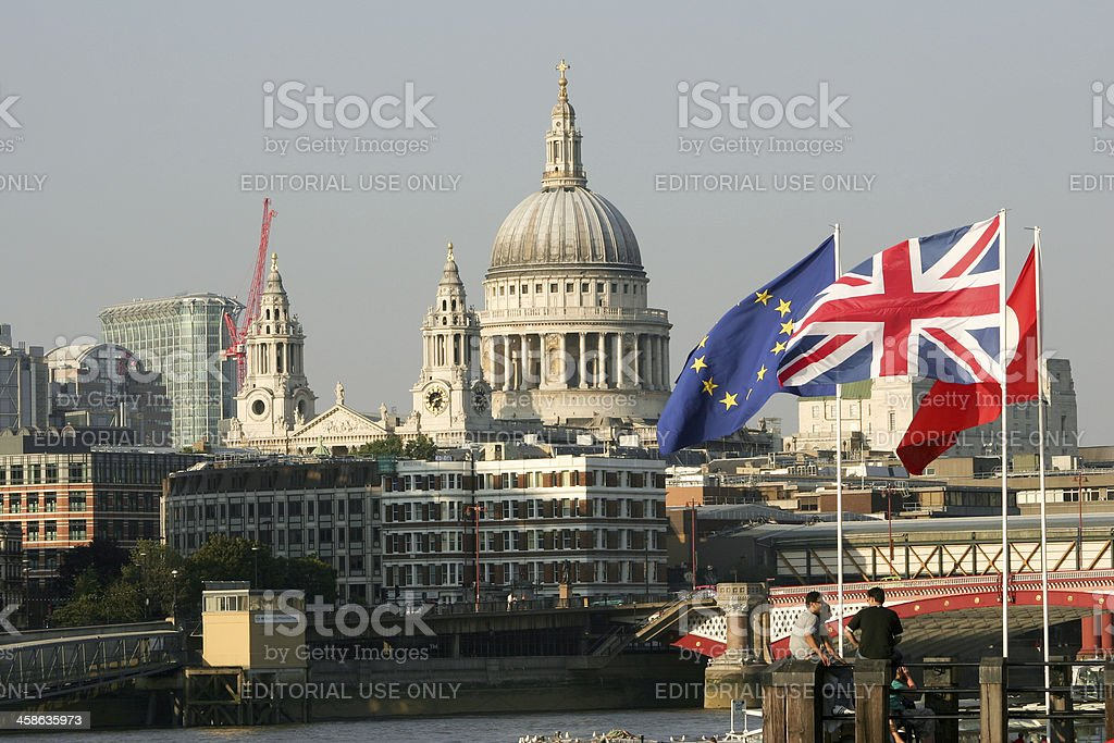 St Paul's Cathedral in London, England stock photo