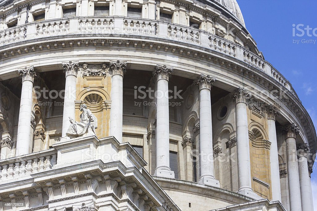 St Paul's Cathedral in London, England royalty-free stock photo