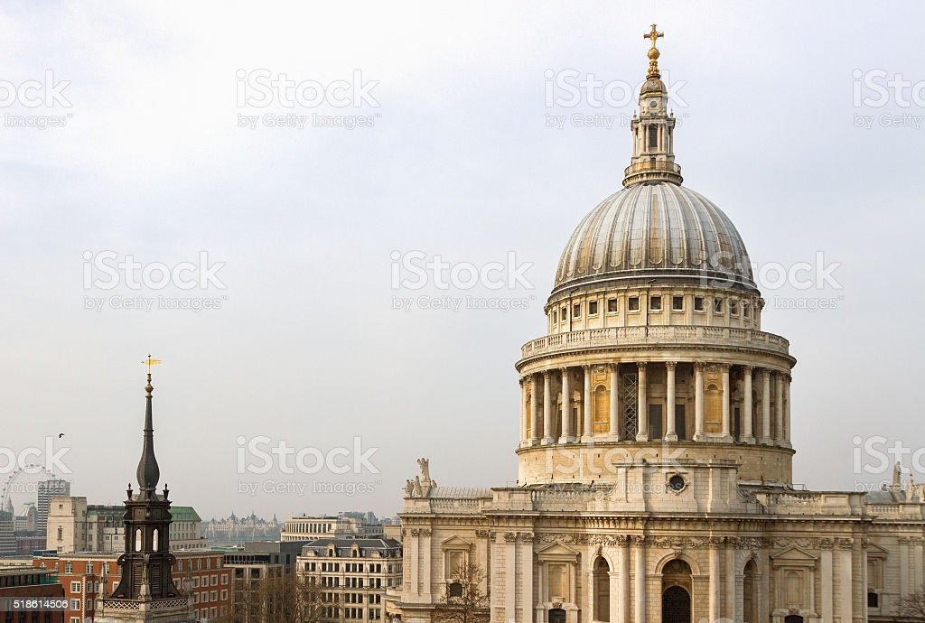 St Pauls Cathedral in London. stock photo