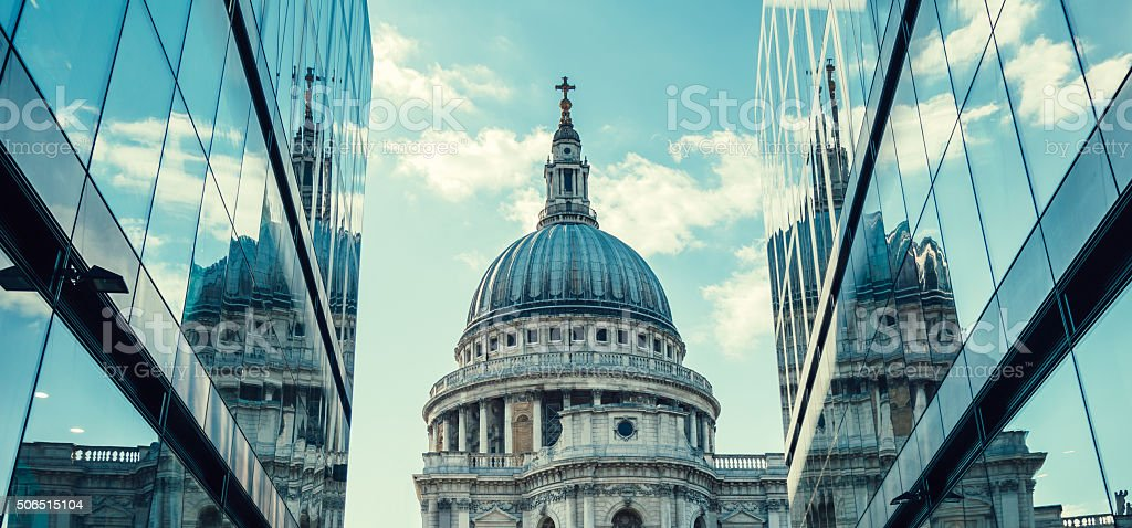St. Paul's Cathedral in London, UK stock photo