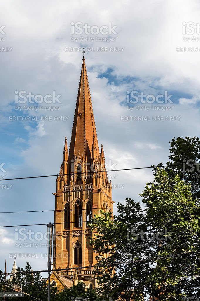 St. Paul's Cathedral in Melbourne, Australia stock photo