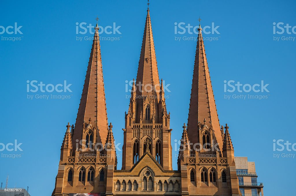 St Paul's Cathedral in Melbourne, Australia. stock photo