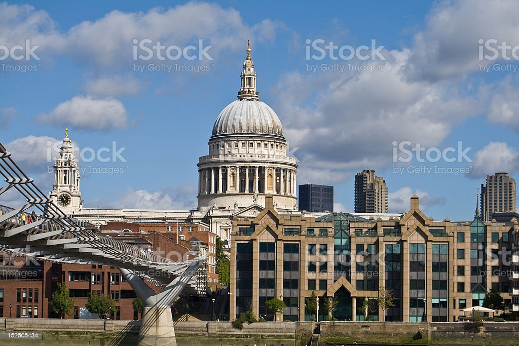 St Paul's Cathedral in the City stock photo