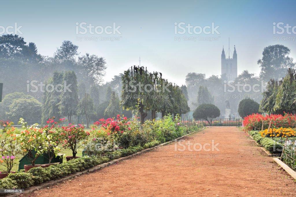 St. Pauls Cathedral, Kolkata , India - Historical monument. stock photo