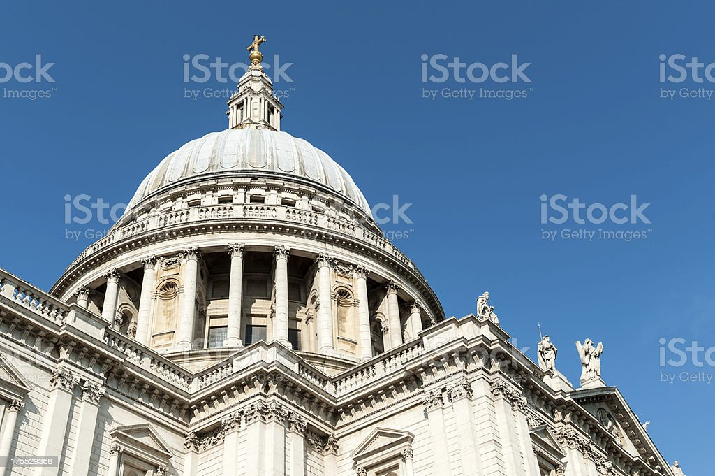 St. Paul's Cathedral, London, England royalty-free stock photo