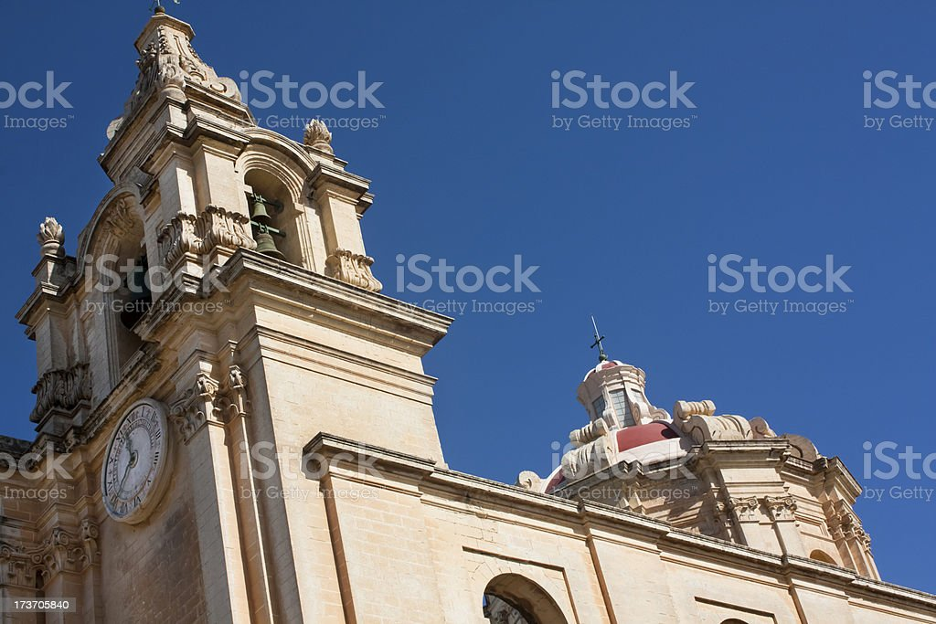 St. Paul's cathedral, Mdina royalty-free stock photo