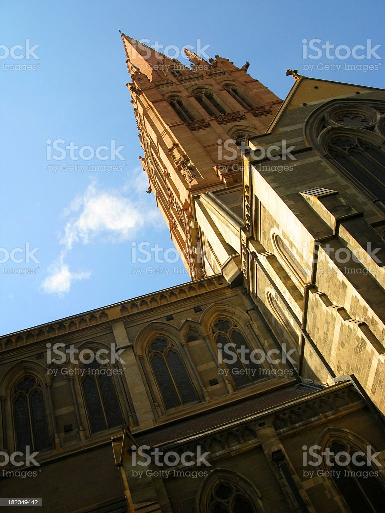 St Paul's Cathedral, Melbourne stock photo