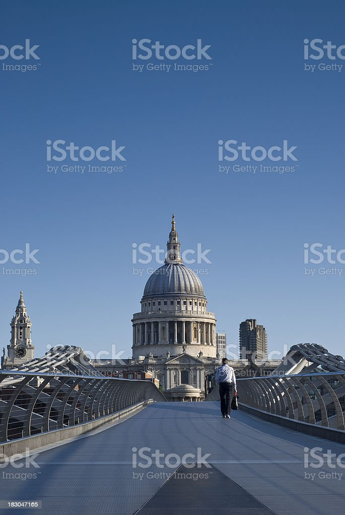 St Paul's Cathedral, morning light, London royalty-free stock photo