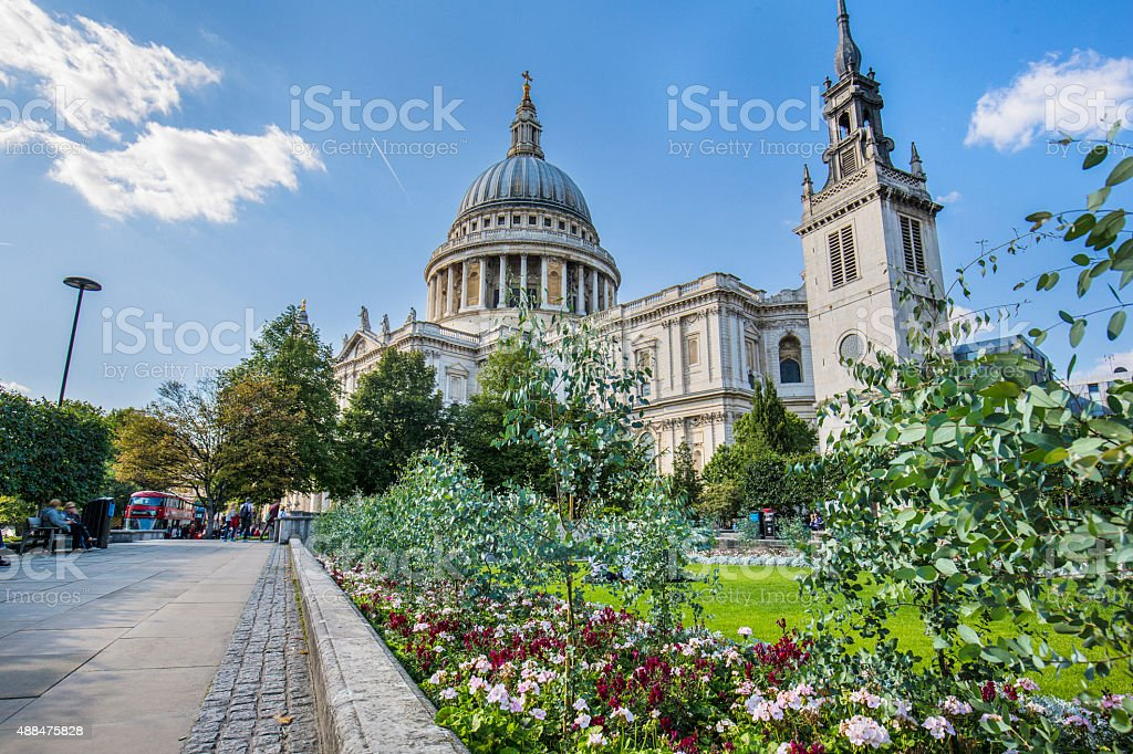 St. Paul's Cathedral stock photo