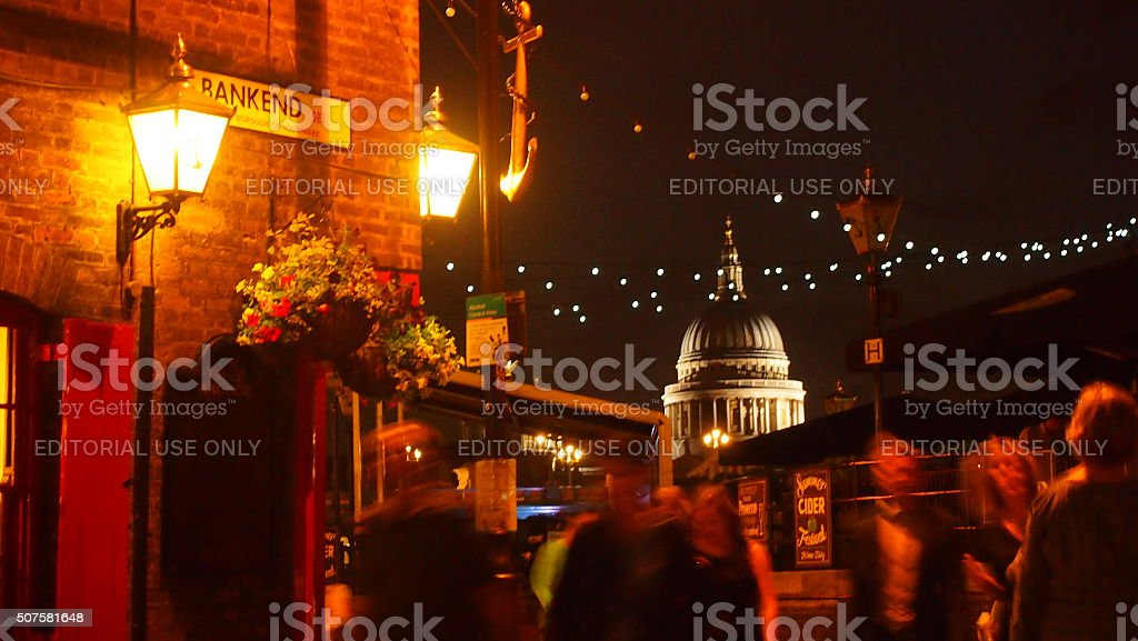 St Paul's Cathedral viewed from south bank stock photo