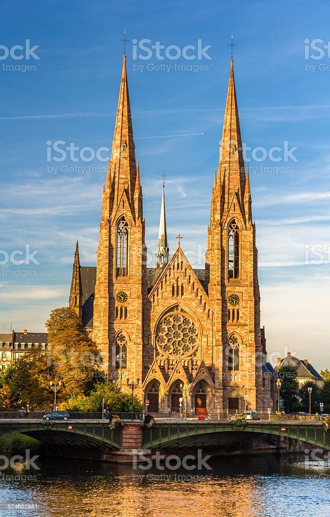 St Paul's church in Strasbourg - Alsace, France stock photo
