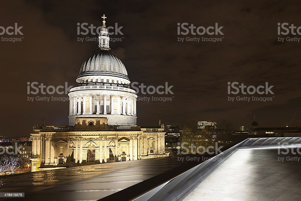 St Paul's Dome By Night royalty-free stock photo