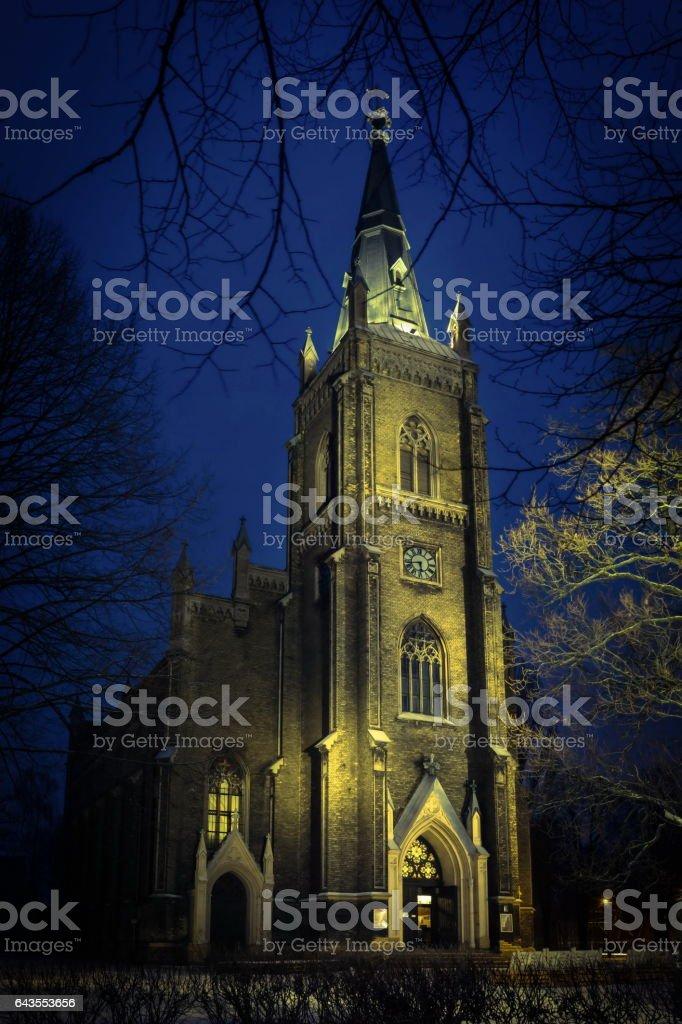 St. Paul's Lutheran Church in Riga, Latvia stock photo