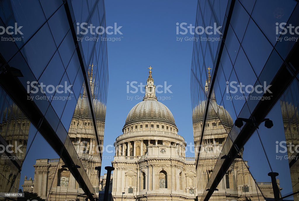 St Paul's Reflected stock photo