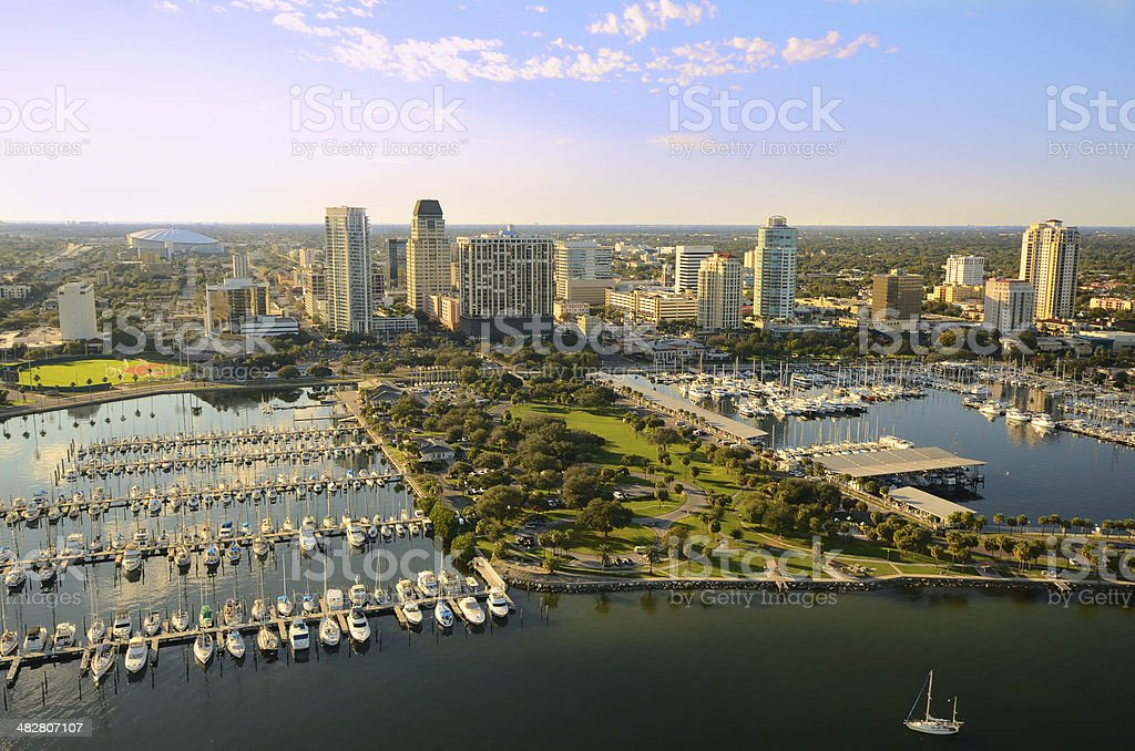 St. Pete Aerial View stock photo