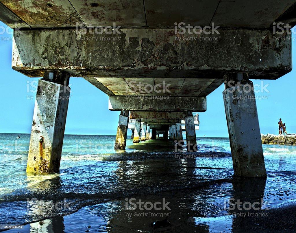 St. Pete Fishing Pier stock photo