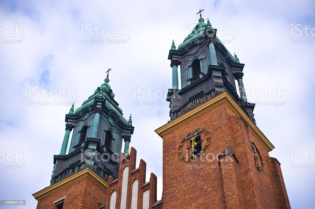St. Peter and Paul basilica in Poznan, Poland stock photo