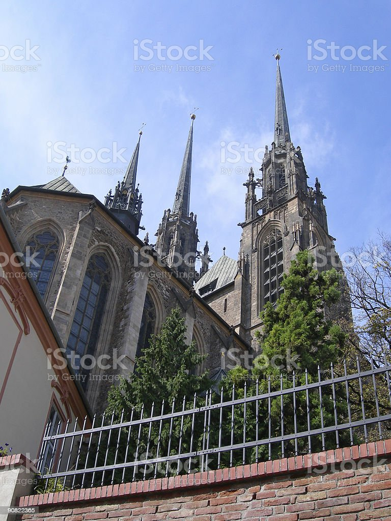 St. Peter And Paul Cathedral (Petrov), Brno, Czech Republic. stock photo
