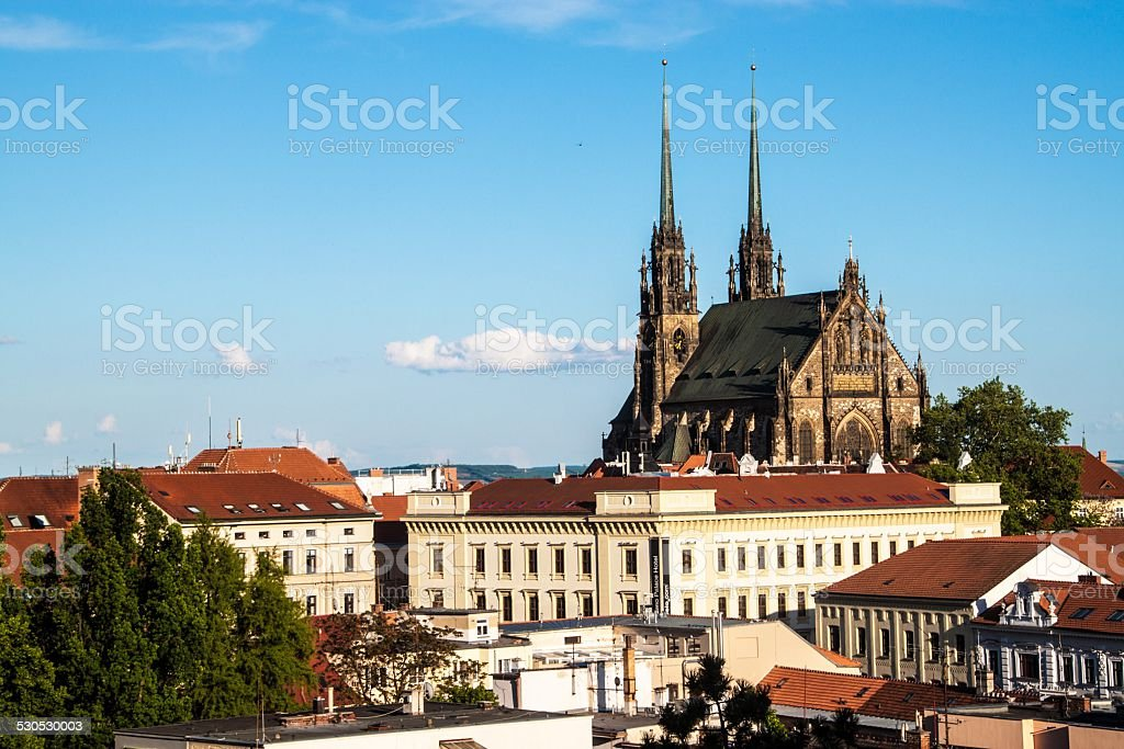 St, Peter and Paul cathedral in Brno stock photo