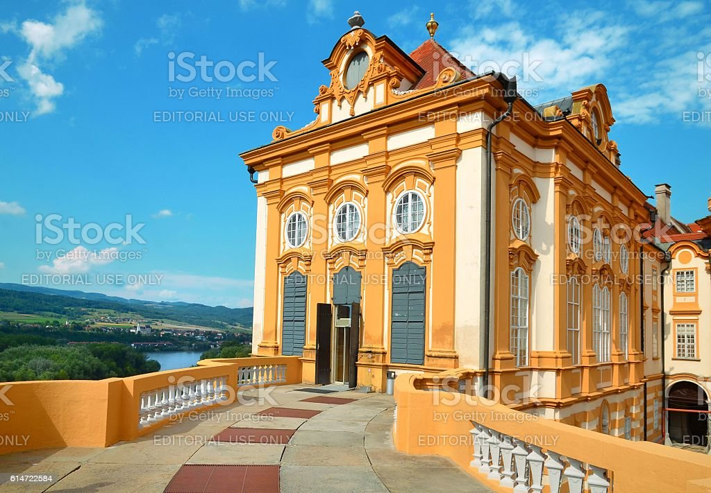 St. Peter and Paul Church in Melk Abbey, Austria stock photo