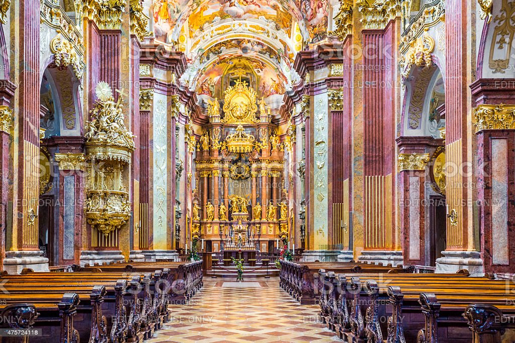 St. Peter and Paul Church in Melk Abbey stock photo