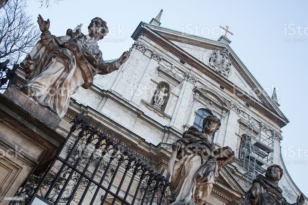 St. Peter and St. Pauls Church in Krakow stock photo