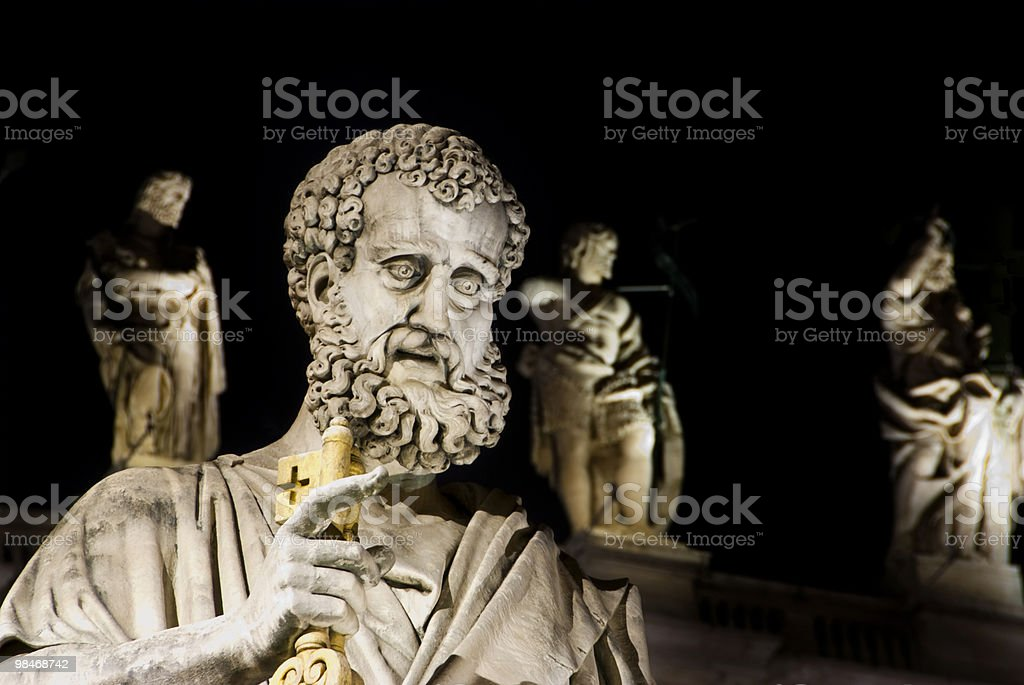 St. Peter at night stock photo