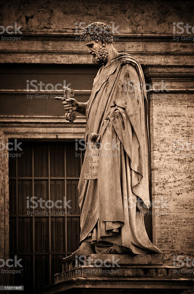 St. Peter at the Vatican stock photo