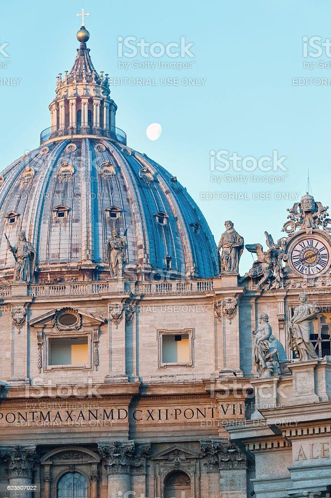 St. Peter Basilica dome stock photo