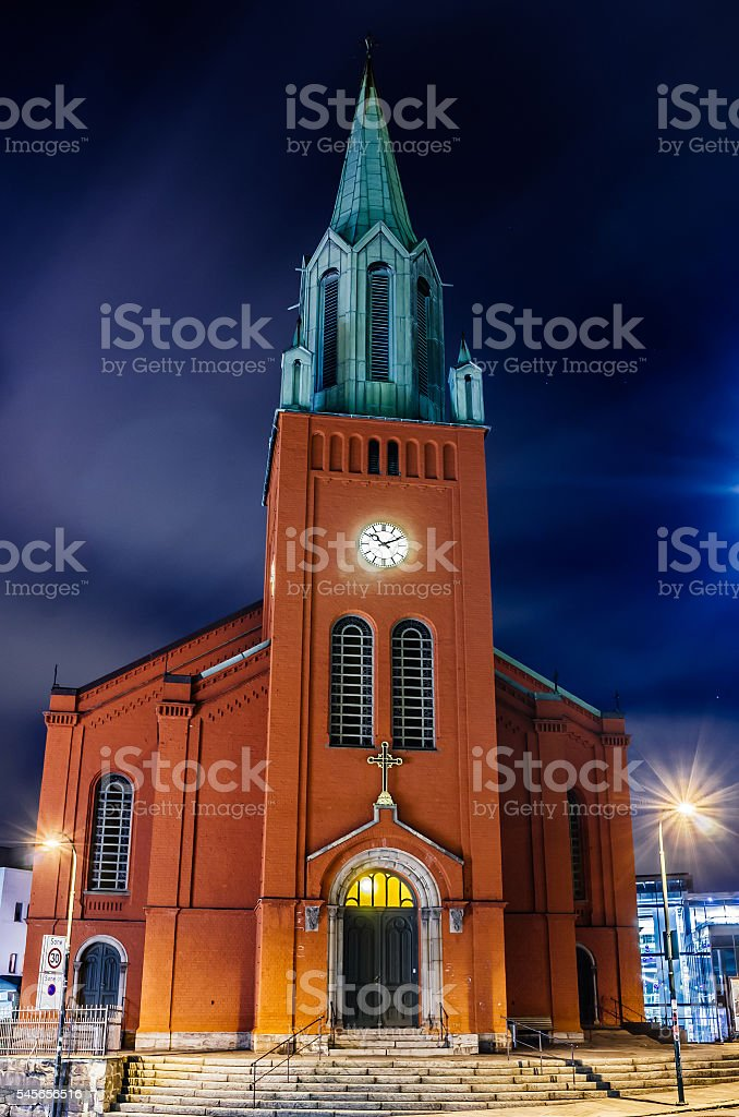 St. Peter Church or St. Petri Kirke stock photo
