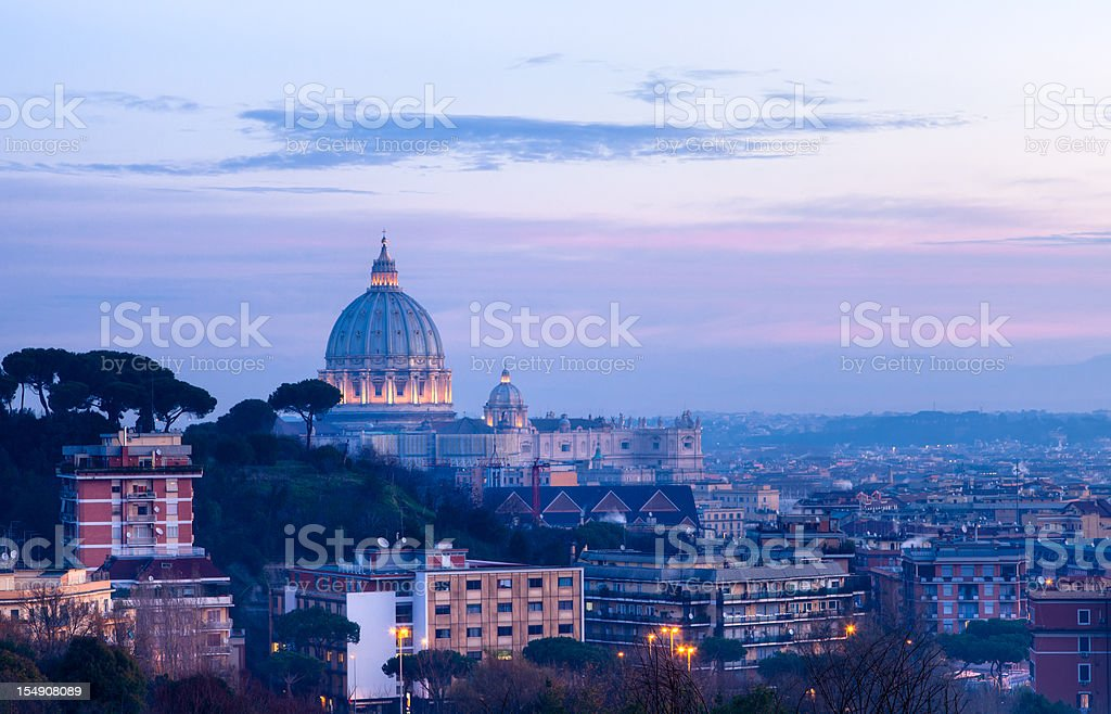St Peter cupola at dawn royalty-free stock photo