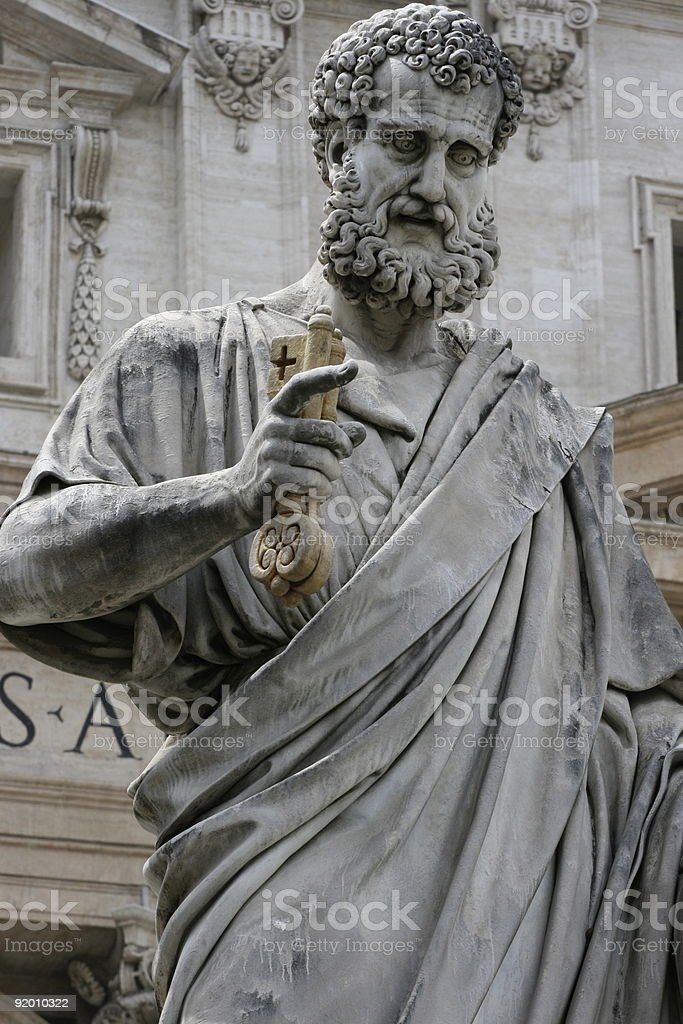 St. Peter in the Vatican stock photo