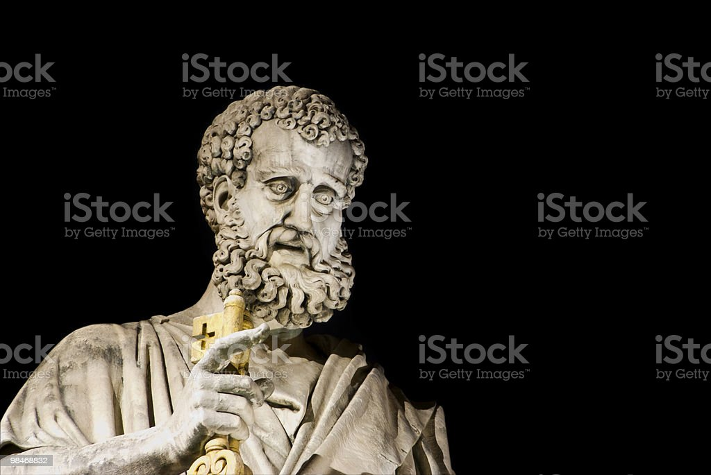 St. Peter isolated at night stock photo