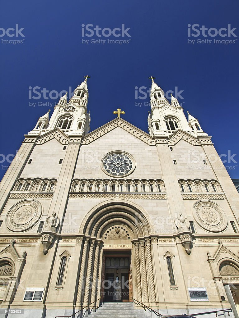 St. Peter & Paul Church in San Francisco royalty-free stock photo