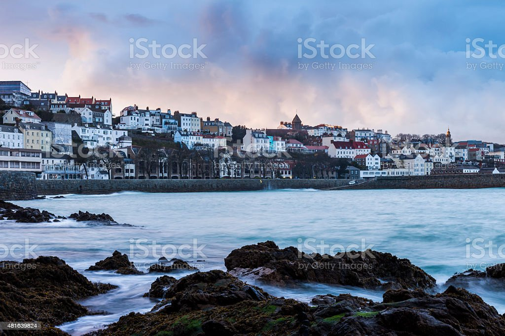 St. Peter Port, Guernsey stock photo